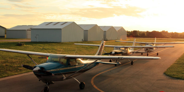 A photo of WSC's three Cessna 182s