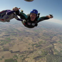Accelerated Free Fall (AFF) training to learn how to skydive solo at Wisconsin Skydiving Center near Milwaukee, WI