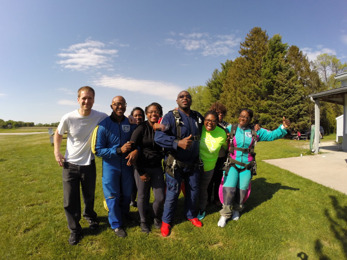 Family Going Skydiving in Wisconsin