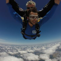 GoPro for Skydiving - Tandem skydiver with instructor and skydiving videographer