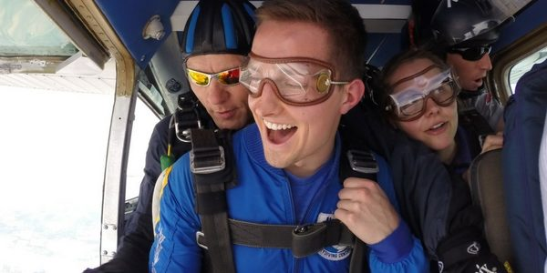 mentally preparing for a skydive