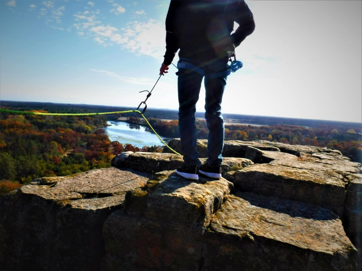 Hiking with Vertical Illusions in Wisconsin Dells, WI