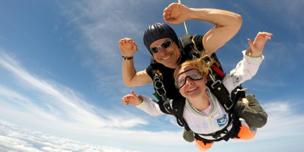 Skydiving is euphoric and exhilarating, and maybe just a bit scary...at first