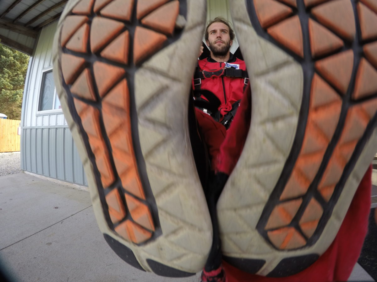 What are the best skydiving shoes at Wisconsin Skydiving Center near Chicago