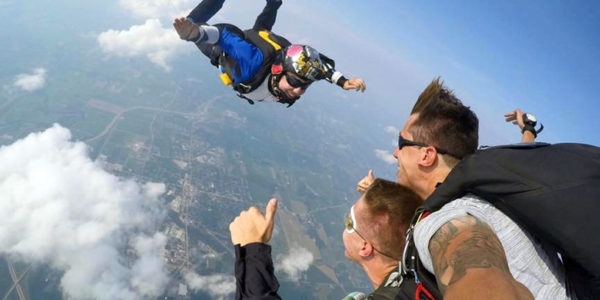 Skydiving Stories: Jake Lumsden on a tandem jump
