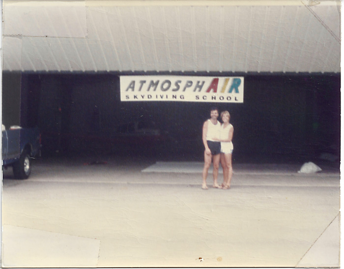 Alex and Bo at the Atmosphair dropzone (now Wisconsin Skydiving Center)