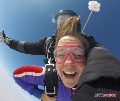 Skydiving can be a little like therapy - and put a big smile on your face.