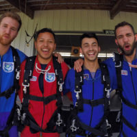 Skydiving is the perfect activity with friends after graduation and for reunions at Wisconsin Skydiving Center near Milwaukee
