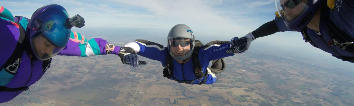 Michael Dix skydiving at Wisconsin Skydiving Center - read his skydiving story now!
