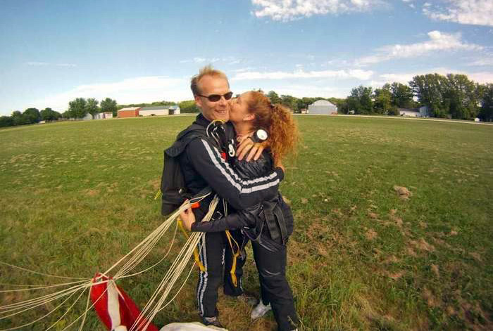 tandem instructor Charlie Rogers at WSC with his wife Jenny