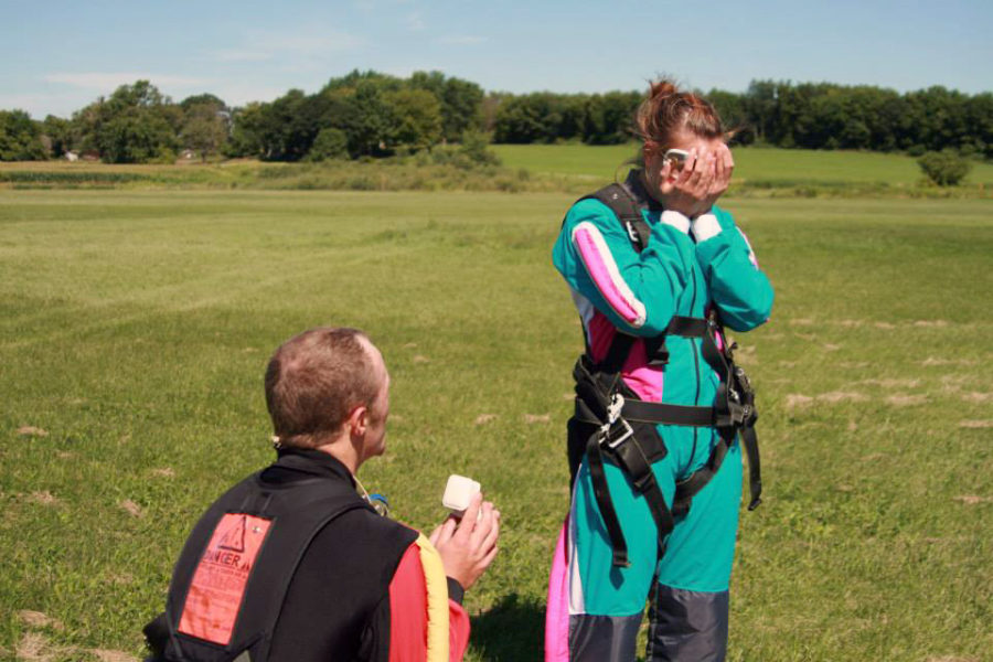 A skydiving proposal at WSC