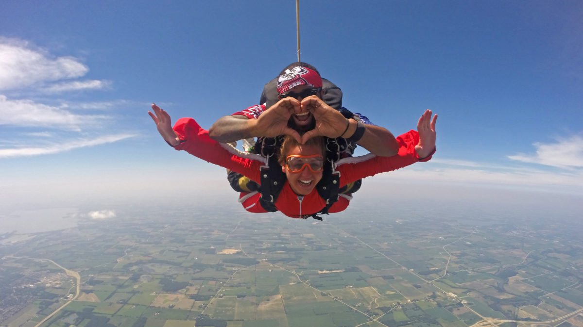 Need a unique birthday party idea for adults? Try skydiving at Wisconsin Skydiving Center near Milwaukee!