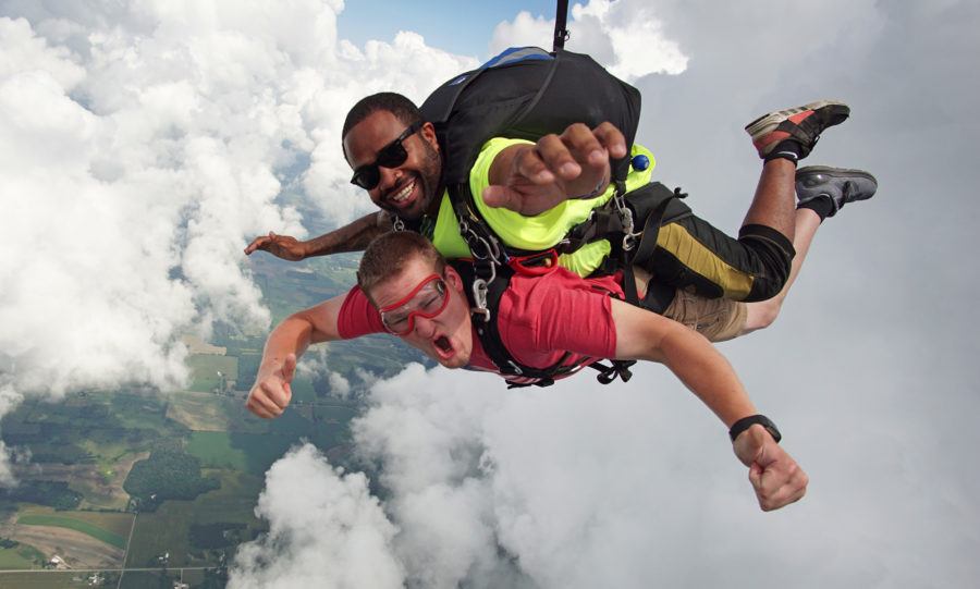 why skydiving is the best christmas gift