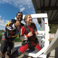 First time skydiver training for jumping from a plane at Wisconsin Skydiving Center near Madison
