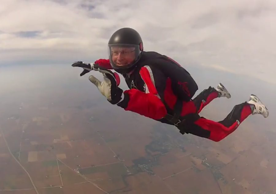 Mark Langenfeld skydives