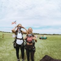 Girlfriends excited to solo skydive at Wisconsin Skydiving Center near Chicago