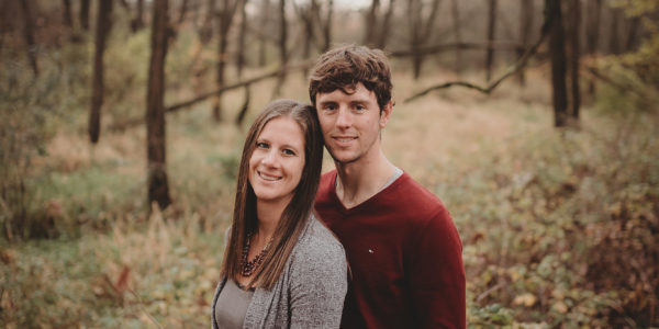 Engagement Photo of Erica and Tyler who met at Wisconsin Skydiving Center