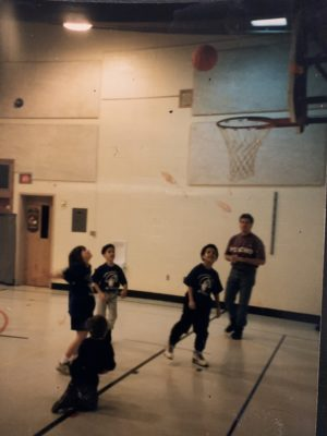 Erica playing basketball when she was a kid