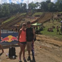 A Motocross rally in their first summer as a couple