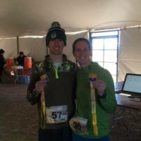 Tyler's first ever half marathon; he was 1st overall finisher, Erica was first female finisher and this were her 19th state on the journey to 50.