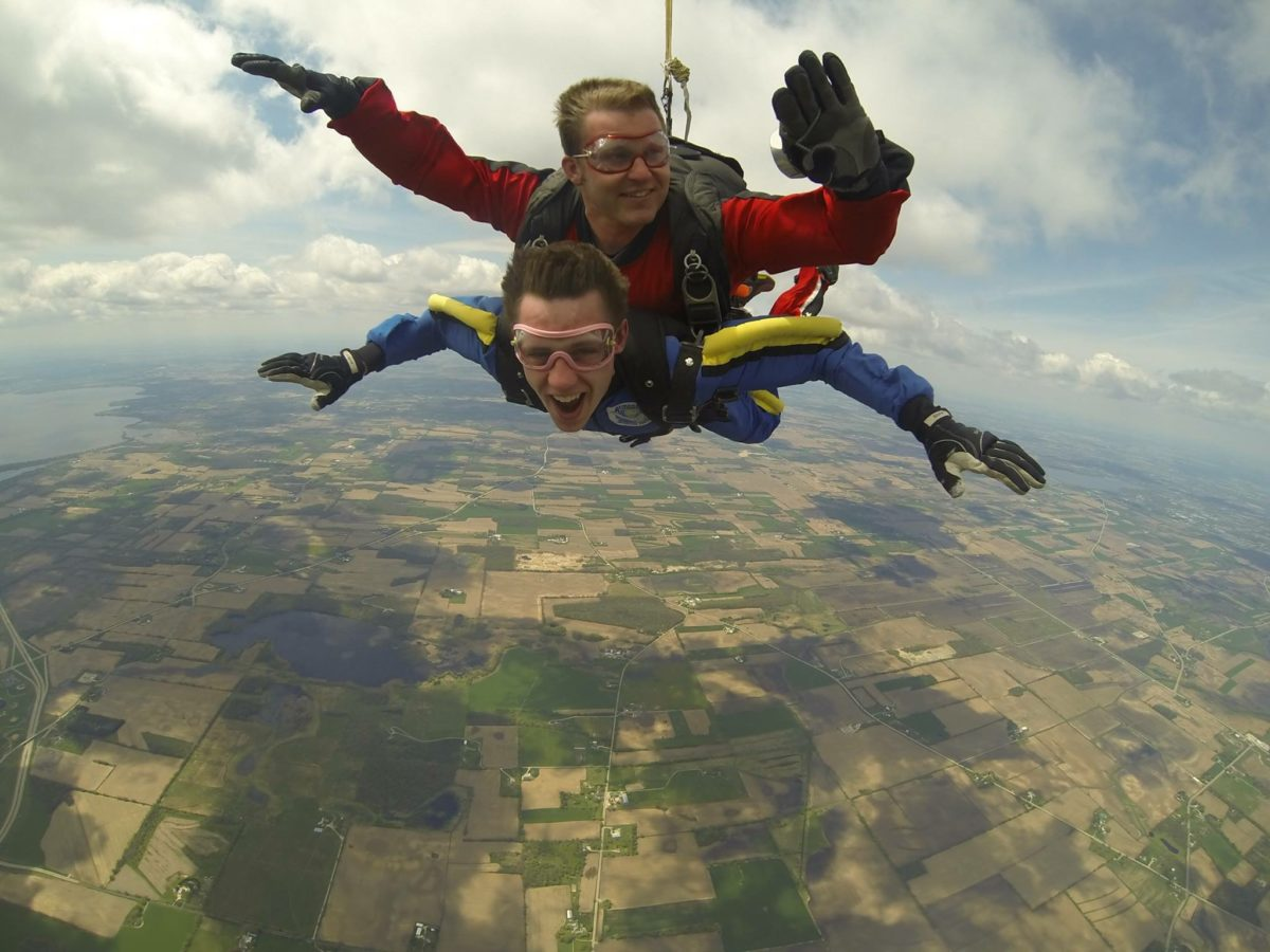 Tyler First Tandem Skydive