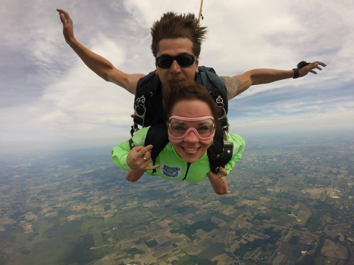 First tandem skydive at Wisconsin Skydiving Center near Chicago