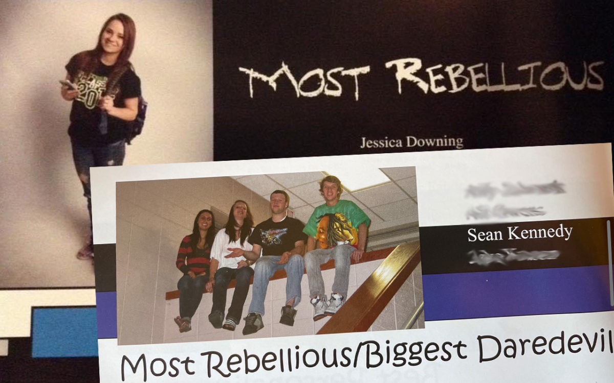 Jessica and Sean voted Most Rebellious in their respective senior years