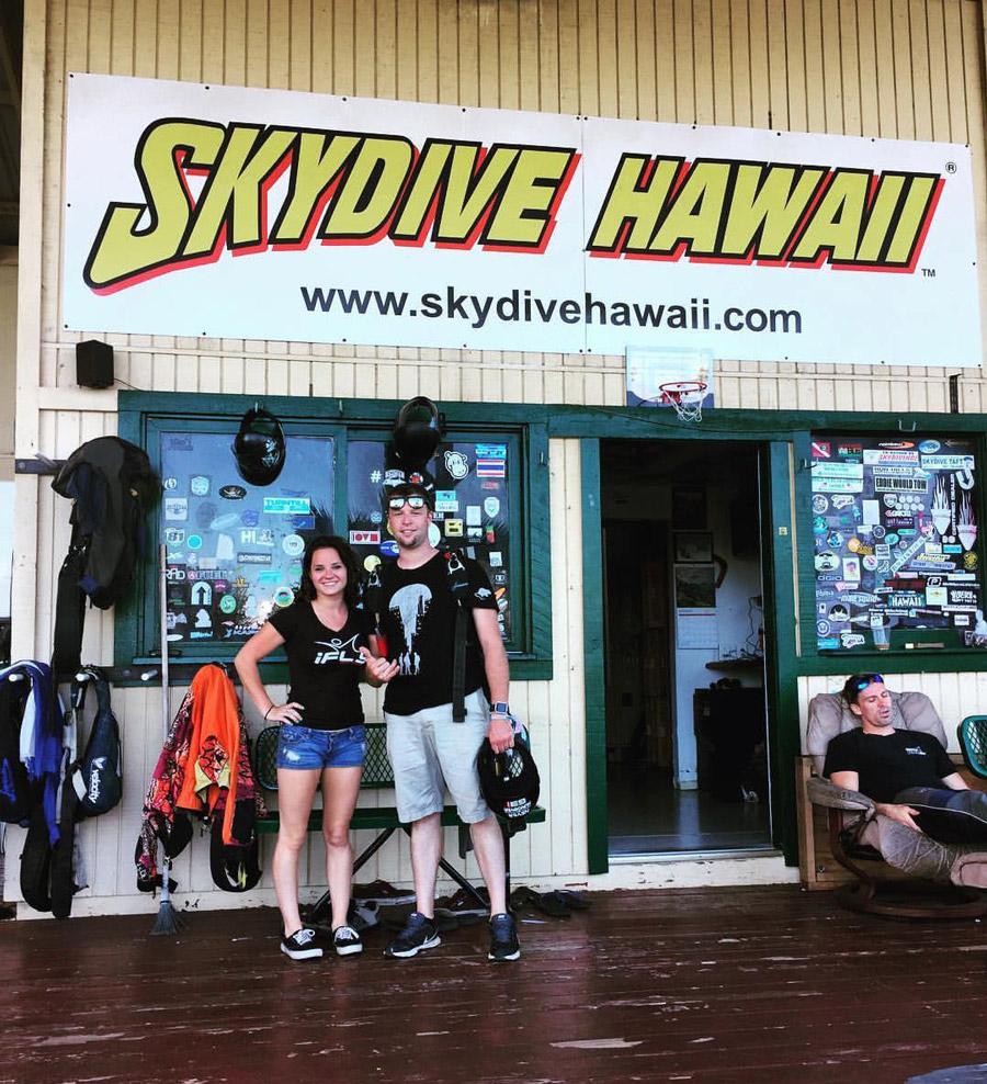Sean and Jessica at Skydive Hawaii