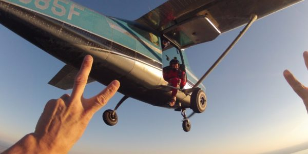 What happens if you vomit while skydiving?